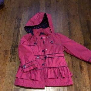 London Fog pink rain jacket girls